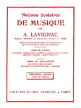 Lavignac - School Concepts - Volume 1 - Student - Sheet Music - di-arezzo.co.uk