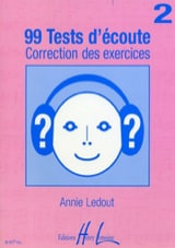 Annie Ledout - 99 Tests d'écoute - Corrigés - Volume 2 - Partition - di-arezzo.fr