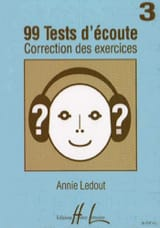 Annie Ledout - 99 Listening tests - Answers - Volume 3 - Sheet Music - di-arezzo.com