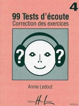 Annie Ledout - 99 Listening tests - Answers - Volume 4 - Sheet Music - di-arezzo.com