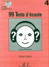 99 Tests D'écoute Volume 4 Annie Ledout Partition laflutedepan.com