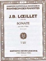 de Gant Jean Baptiste Loeillet - Sonate en sol mineur – Flûte piano - Partition - di-arezzo.fr