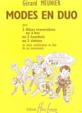 Gérard Meunier - Modes en duo - Partition - di-arezzo.fr