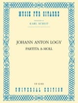 Partita A-Moll –guitarre - Johann Anton Logy - laflutedepan.com