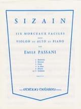 Emile Passani - Sizain n° 6 : Sicilienne - Partition - di-arezzo.fr