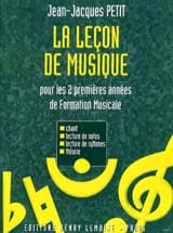 Jean-Jacques Petit - The music lesson - 1 / 2nd year - Sheet Music - di-arezzo.com