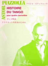 Astor Piazzolla - Tango History - 4 Clarinets - Sheet Music - di-arezzo.co.uk