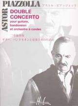 Astor Piazzolla - Double Concerto guitare-bandonéons cordes – Conducteur - Partition - di-arezzo.fr