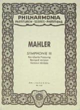 Symphonie Nr. 3 - Partitur Gustav Mahler Partition laflutedepan.com