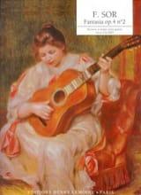 Fantasia op. 4 n° 2 Fernando Sor Partition Guitare - laflutedepan.com