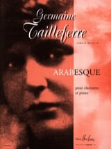 Arabesque - Germaine Tailleferre - Partition - laflutedepan.com