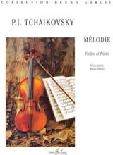 Mélodie Piotr Illitch Tschaïkovsky Partition Violon - laflutedepan.com