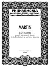 Concerto pour 7 instruments -Partitur Frank Martin laflutedepan.com
