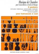 4 Quatuors pour instr. à vent - laflutedepan.com