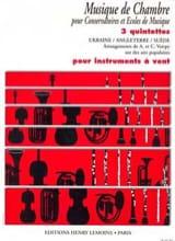 3 Quintettes pour instr. à vent Voirpy A. / Voirpy C. laflutedepan.com