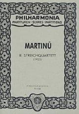 Streichquartett Nr. 2 - Partitur Bohuslav Martinu laflutedepan.com