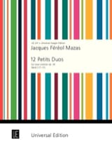 MAZAS - 12 Small Duets Op. 38 Volume 2 - Sheet Music - di-arezzo.co.uk