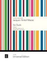 Jacques Féréol Mazas - 6 Duos op. 39 Volume 1 - Partition - di-arezzo.fr