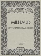 Quatuor à cordes n° 6 - Partitur Darius Milhaud laflutedepan.com