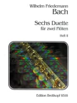 Wilhelm Friedemann Bach - 6 Duette, Heft 2 – 2 Flöten - Partition - di-arezzo.fr