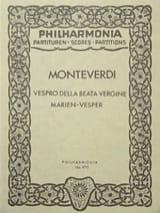 Claudio Monteverdi - Vespro della Beata Vergine - Partitur - Partition - di-arezzo.fr