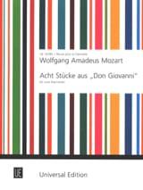 MOZART - Acht Stücke aus Don Giovanni - 2 Klarinetten - Sheet Music - di-arezzo.com