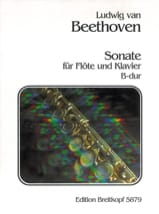 Sonate B-Dur - Flöte Klavier BEETHOVEN Partition laflutedepan.com