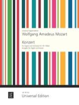 MOZART - Fagottkonzert B-Dur KV 191 - Fagott Klavier - Partitura - di-arezzo.es