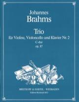 Johannes Brahms - Klaviertrio Nr. 2 C-Dur, Opus 87 –stimmen - Partition - di-arezzo.fr