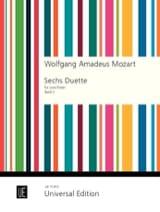 6 Duets Volume 2) - 2 Flutes MOZART Partition laflutedepan.com