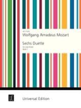 MOZART - 6 Duets Volume 1) - 2 Flûtes - Partition - di-arezzo.fr