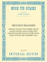 Niccolò Paganini - Grande Sonate - Partition - di-arezzo.fr