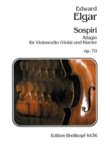 ELGAR - Sospiri op. 70 - Cello ou Alto - Partition - di-arezzo.fr