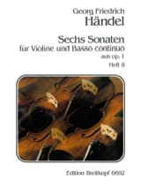 Georg Friedrich Haendel - 6 Sonaten op. 1, Volume 2 - Partition - di-arezzo.fr