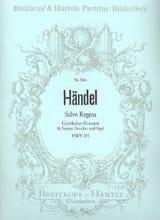 Georg Friedrich Haendel - Salve Regina HWV 241 - Partition - di-arezzo.fr