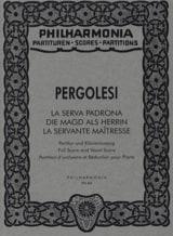 La Serva padrona - Partitur PERGOLESE Partition laflutedepan