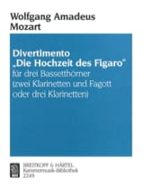 MOZART - Divertimento Hochzeit des Figaro -3 Bassetthörner 2 Kl. Fag./3Kl. - Partition - di-arezzo.fr