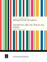 Nicolaï Rimsky-Korsakov - Variationen über ein Thema von Glinka – Oboe Klavier - Partition - di-arezzo.fr