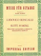 Lodovico Roncalli - Suite h-moll - Partition - di-arezzo.fr
