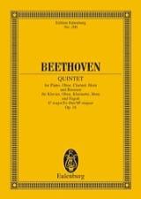 BEETHOVEN - Quintett Es-Dur, Op. 16 - Partitur - Partition - di-arezzo.fr