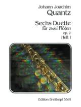 Johann Joachim Quantz - 6 Duette op. 2 -Heft 1 – 2 Flöten - Partition - di-arezzo.fr
