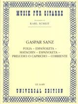 Gaspar Sanz - Folia - Espanoleta - Matachin - Espanoleta - Preludio o Capricho - Corriente - Partition - di-arezzo.fr