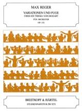 Max Reger - Variations et Fugues S/Thème De Mozart Op.132 - Partition - di-arezzo.fr