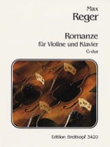 Max Reger - Romanze G-Dur - Sheet Music - di-arezzo.co.uk