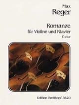 Romanze G-dur Max Reger Partition Violon - laflutedepan.com