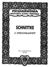 Streichquartett Nr. 3 – Partitur - Alfred Schnittke - laflutedepan.com