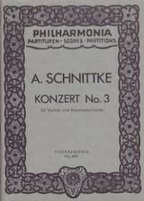 Alfred Schnittke - Konzert Nr. 3 für Violine– Partitur - Partition - di-arezzo.fr