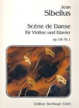 Scène de danse op. 116 n° 1 Jean Sibelius Partition laflutedepan.com