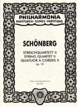 Arnold Schoenberg - Streichquartett Nr. 2 op. 10 – Partitur - Partition - di-arezzo.fr
