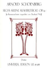 Arnold Schoenberg - 6 Kleine Klavierstücke op. 19 – Partitur - Partition - di-arezzo.fr